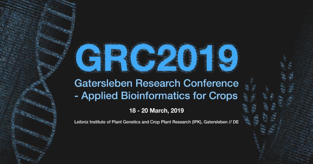 ipk-gatersleben.de - Gatersleben Research Conference (GRC2019) - Applied Bioinformatics in Crops